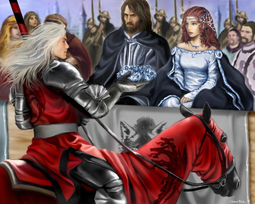 Rhaegar i Starkowie podczas turnieju w Harrenhal