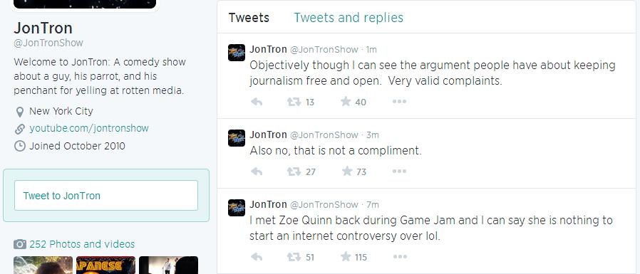 Jon Tron o Zoe Quinn