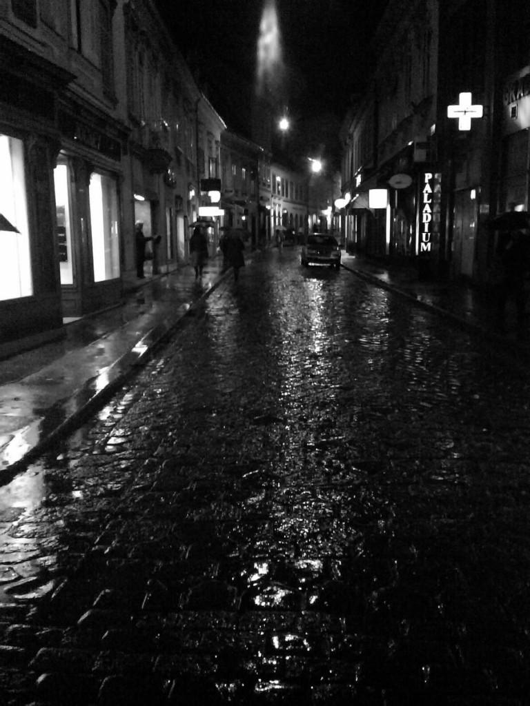 Niezgodzice by night and w deszczu.