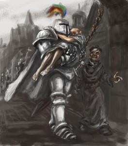 Ser Robert Strong, Cersei Lannister i Qyburn