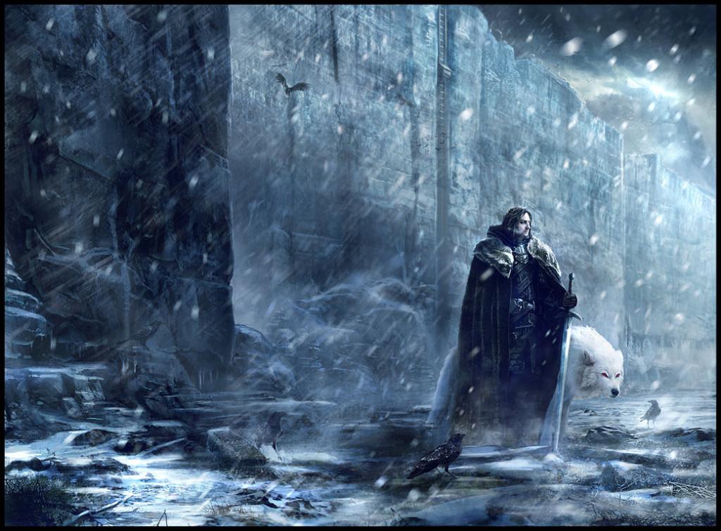 Jon Snow, Duch i kruk Mormonta.