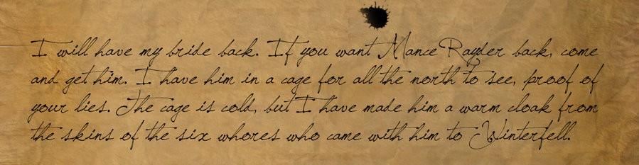 Fragment Różowego Listu.