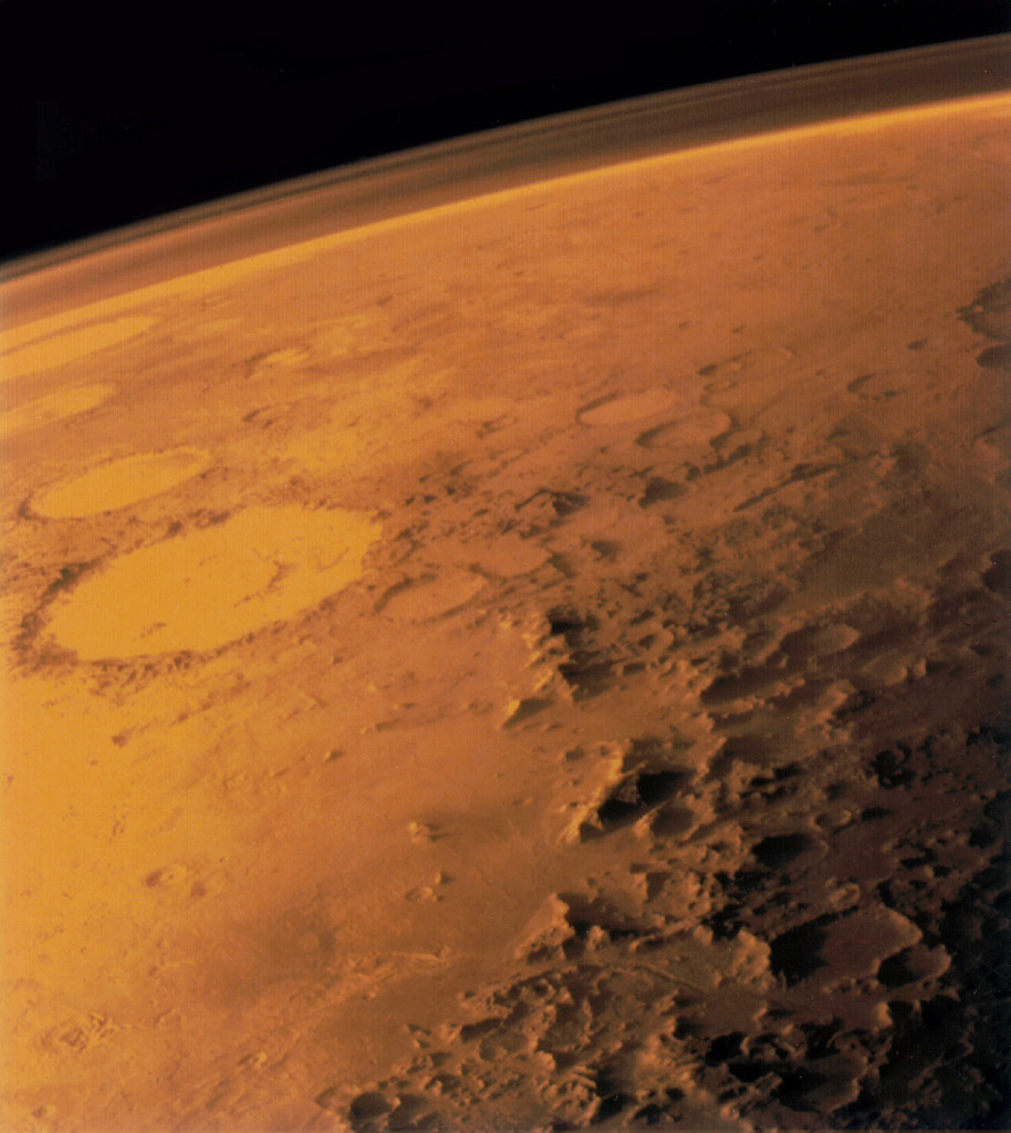 Mars z orbity - Viking 1