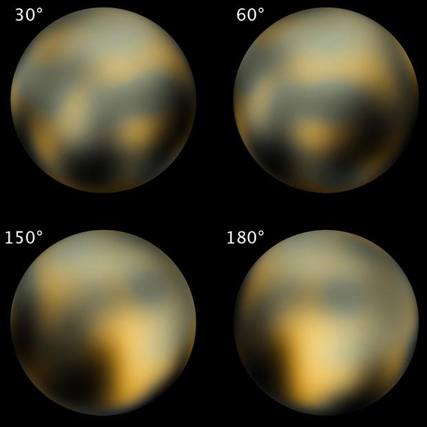 Pluton z teleskopu Hubbla