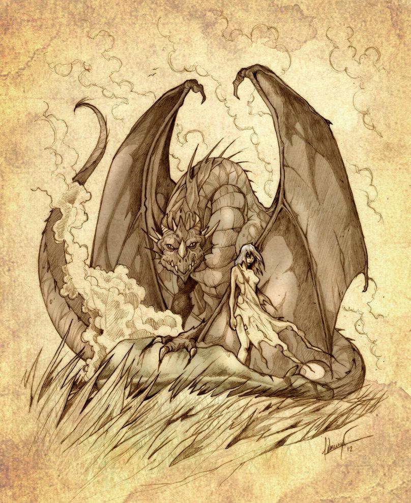 Dany i Drogon na Morzu Traw.
