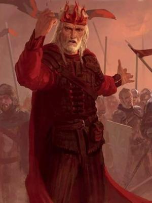 Aerys II zanim zasłużył na miano Obłąkanego Króla.