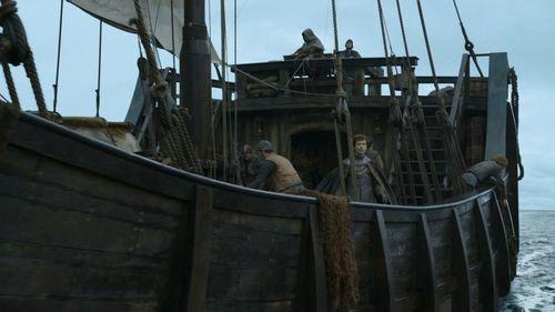 Myraham z Theonem Greyjoyem na pokładzie.