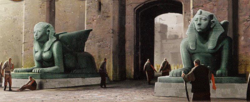 Para sfinksów u wejścia do Cytadeli.