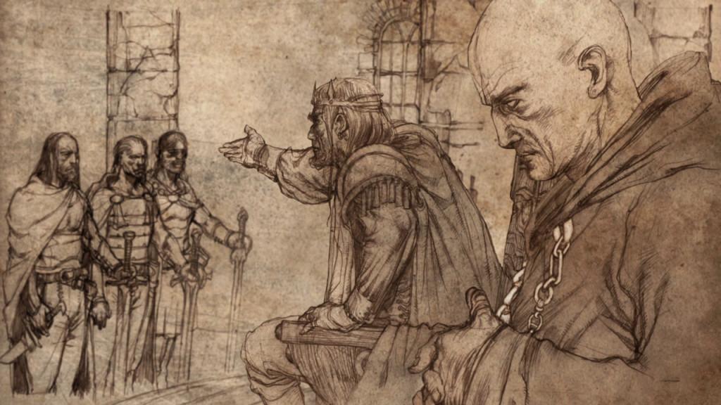 Wielki Maester u boku króla.