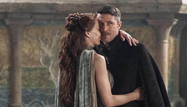 Serialowi Littlefinger i Lysa Arryn.