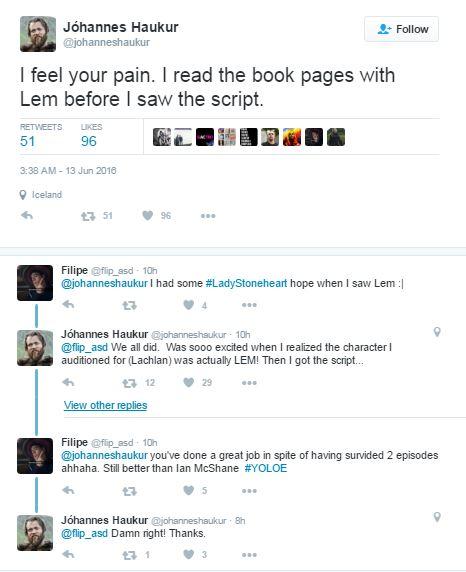 Kilka tweetów aktora wcielającego się w rolę Cytryna Cytrynowego Płaszcza (Lema Lemoncloaka)