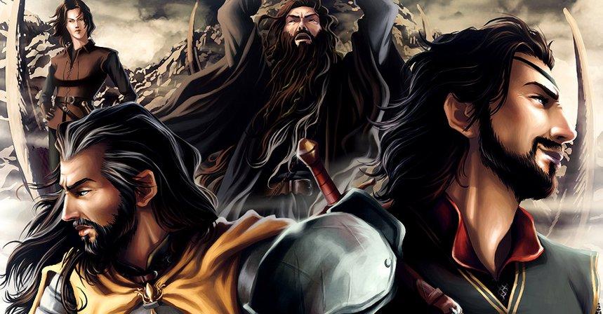 Od lewej: Asha, Victarion, Aeron i Euron.