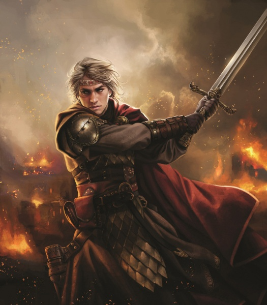 Aegon Targaryen z Blackfyrem.