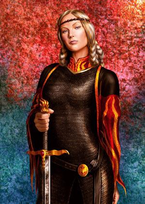 Visenya Targaryen z Mroczną Siostrą.