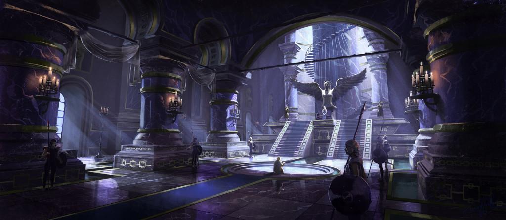 Sala tronowa w Meereen.