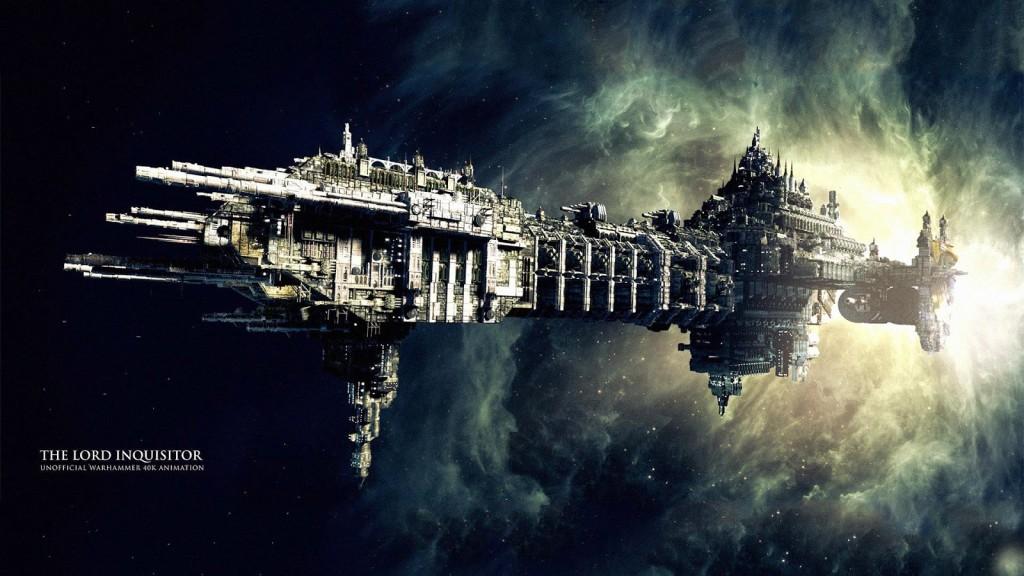 Statek po wyłonieniu się z Immaterium - rodzaju nadprzestrzeni, która - dziwnym zbiegiem okoliczności - przypomina piekło.
