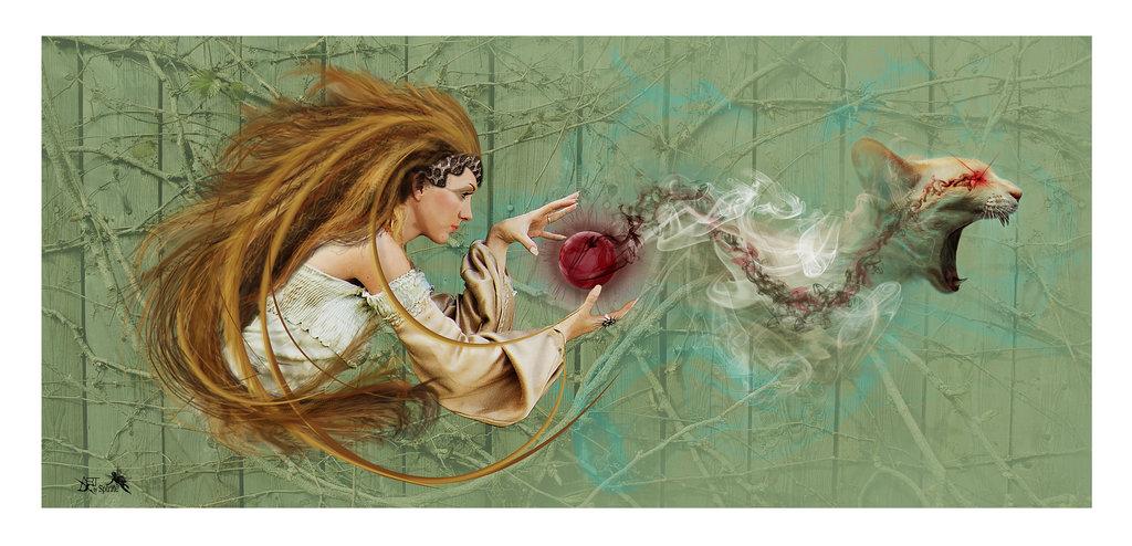Lyssa - grecka bogini obłędu i wścieklizny.