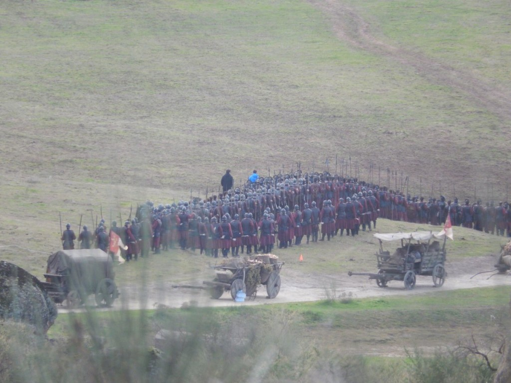 Zwarte szeregi wojsk.