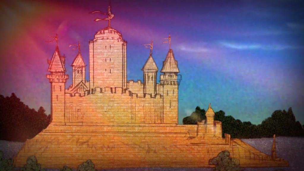 Położony w Reach zamek Jasna Woda, dawna siedziba rodu Florentów.
