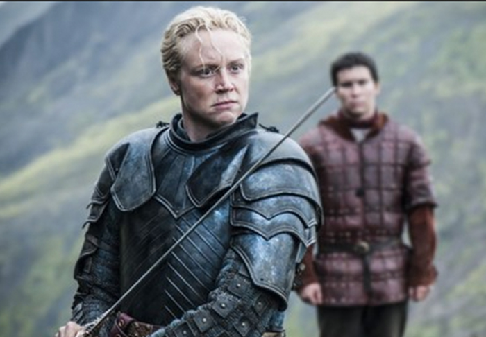 Brienne Tarth i Podrick Payne.
