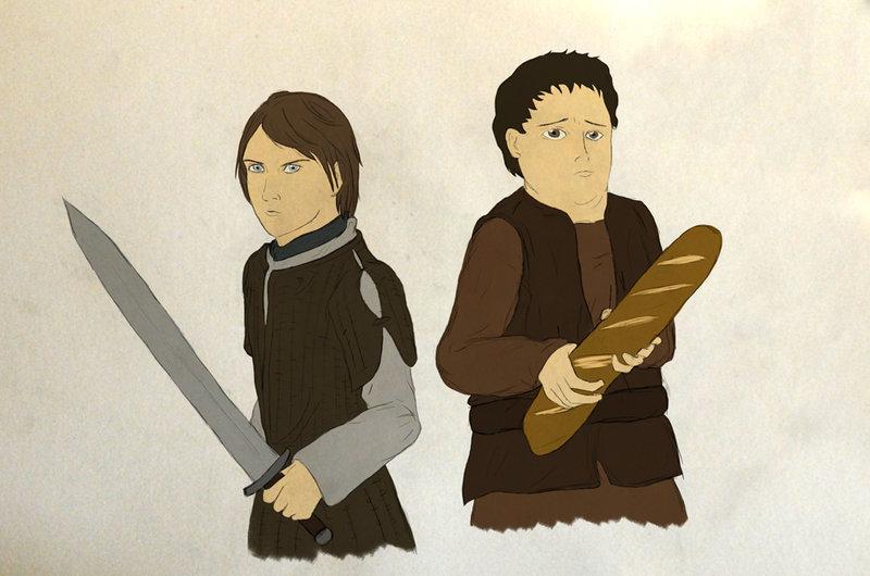 Arya Stark i Gorąca Bułka.
