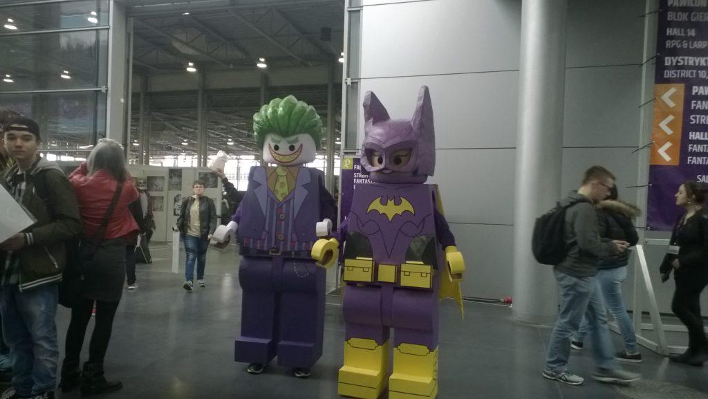 Cosplay Joker i Batgirl