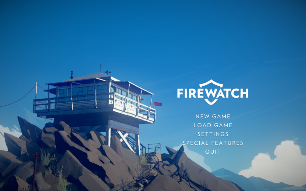 Firewatch - menu