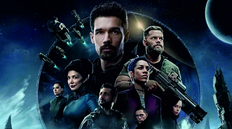 "Kadr z serialu ""The Expanse"""